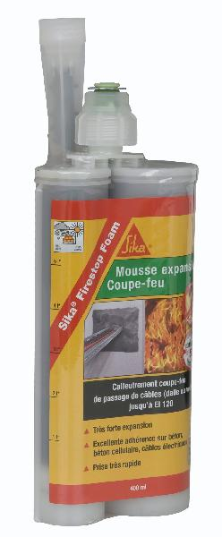 mousse pu bicorps pour joints coupe feu firestop foam cartouche 400 ml. Black Bedroom Furniture Sets. Home Design Ideas