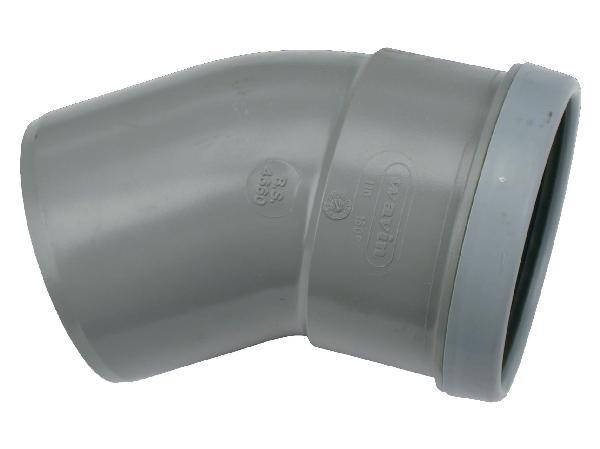Coude PVC assainissement CR4 Ø400 mâle-femelle 30°