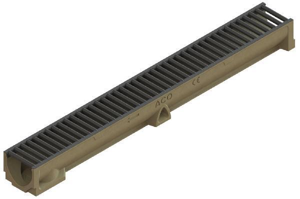 caniveau b ton polym re self 100 1m passerelle a15 pmr gris. Black Bedroom Furniture Sets. Home Design Ideas