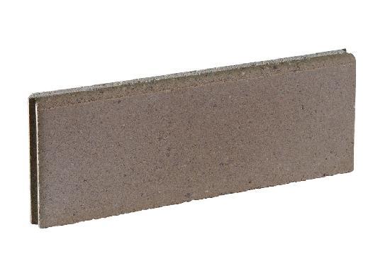 BORDURE LISSE EP.5X50CM H.16CM GRIS