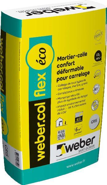 Mortier colle carrelage COL FLEX ECO gris sac 25kg NF EN12004