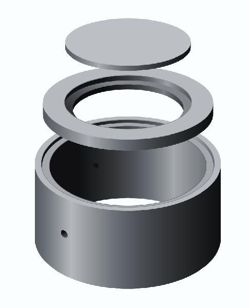 Couvercle de puits béton pour regard Ø1500 Ep.25mm renforcé