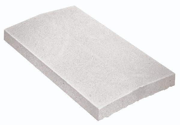 Couvertine CLASSIQUE 2 pentes 49x23cm Ep.4cm blanc cassé