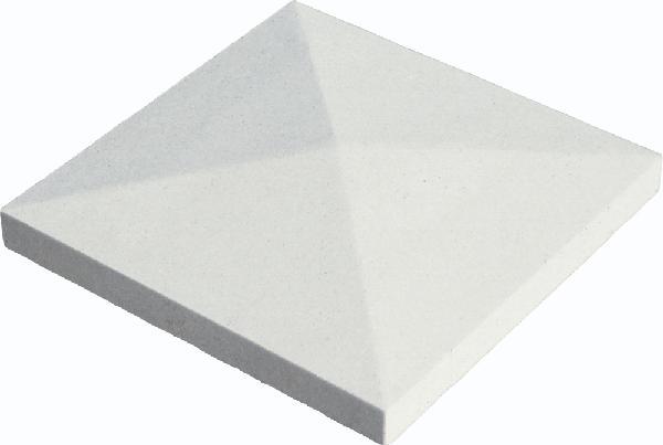 Chapeau pilier pointe diamant 40x40x4cm blanc cassé