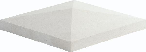 Chapeau pilier pointe diamant 50x50x5cm blanc cassé