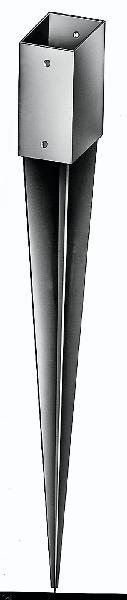 ANCRE ACIER GALVA DE POTEAU A ENFONCER 71X71MM H.750