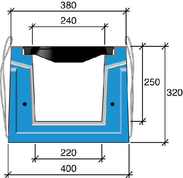 Caniveau béton HRI 30cm 2,25m D400