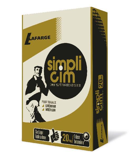 Ciment SIMPLICIM CEM II/B-LL 32,5 N CE sac 20kg