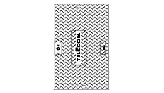 """Tampon fonte pour L5T et L6T C250 logo """"TELECOM EJ """""""