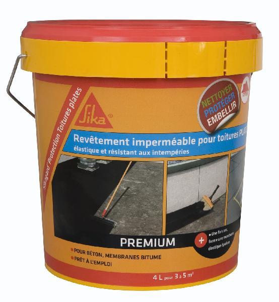 Peinture imperméable SIKAGARD protection toiture inclinée beige 4L
