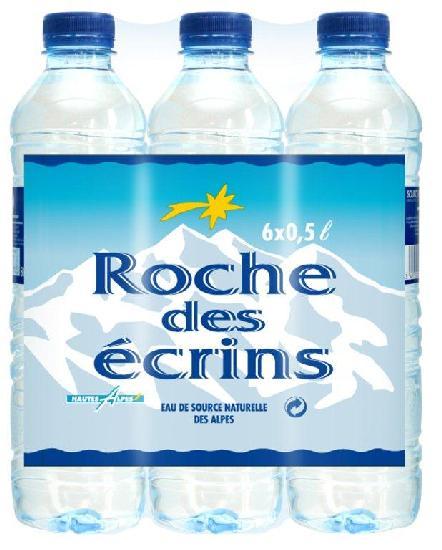 Bouteilles d'eau ROCHE DES ECRINS 0,50L pack 6