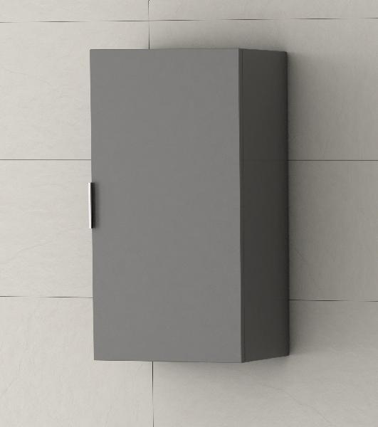 Colonne haute GALSAKY 1 porte gris 35x68x32cm