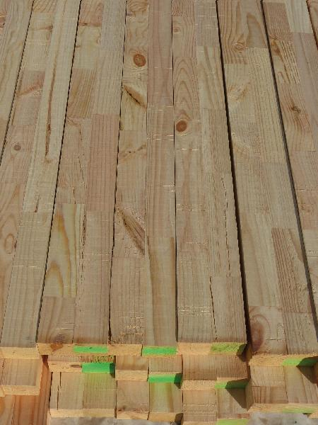 BOIS LAMELLE-COLLE PIN NON TRAITE 45X120MM 6,00M PIECE(S)