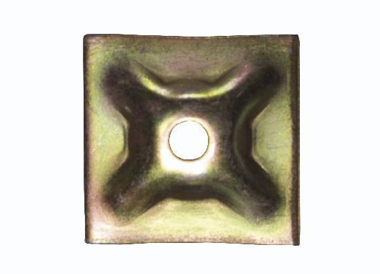 Plaque d'appui éléctro zinguée pour tige Ø15 120x120mm