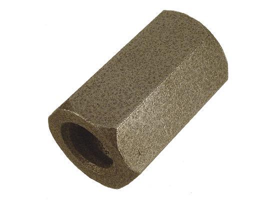 Ecrou hexagonal pour tige soudable Ø15-17 base 60mm