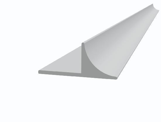 Liteau PVC 20AR pour nez de marche arrondi Ht15x30x20mm 2,50m