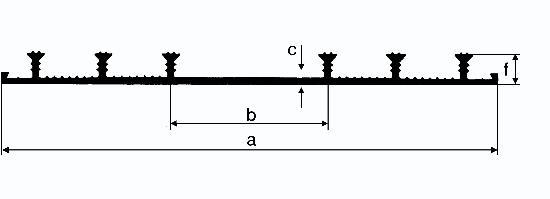 Bande d'arrêt d'eau PVC JOINTFIX WATERSTOP type A 190mm rouleau 25m