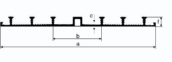 Bande d'arrêt d'eau PVC JOINTFIX WATERSTOP type AE 240mm rouleau 25m
