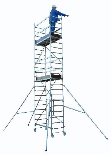 Echafaudage roulant T-ONE 155 alu ht plancher 1,70m