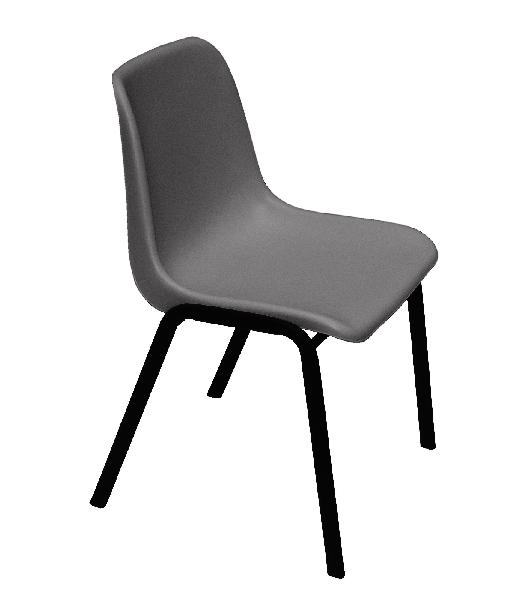 CHAISE EMPILABLE PLASTIQUE ANTHRACITE