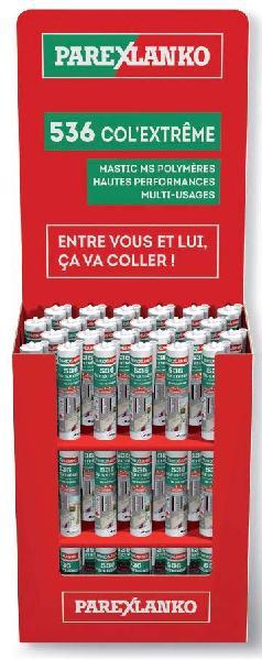 Mastic LANKOCOL COL EXTREME 536 MS Polymère blanc box 72 290ml