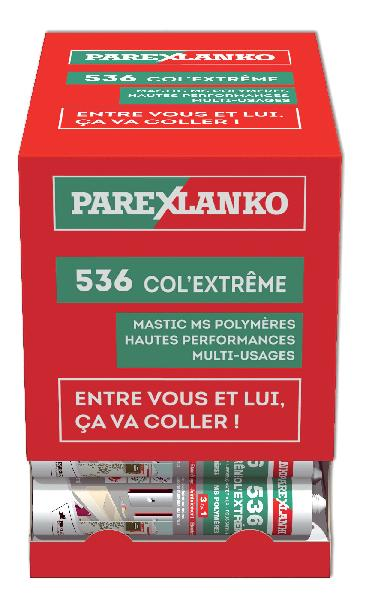Mastic LANKOCOL COL EXTREME 536 MS Polymère blanc box 36 290ml