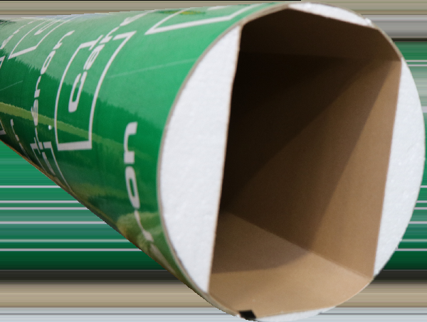 Tube coffrage carton rectangulaire angles chanfreinés 350x500mm 3m