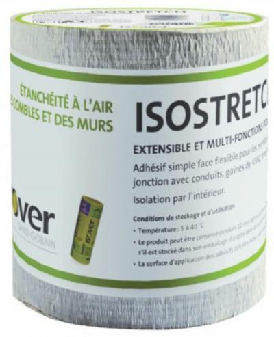 ADHESIF ETANCHEITE A L'AIR ISOSTRETCH SIMPLE FACE 15CMX10M