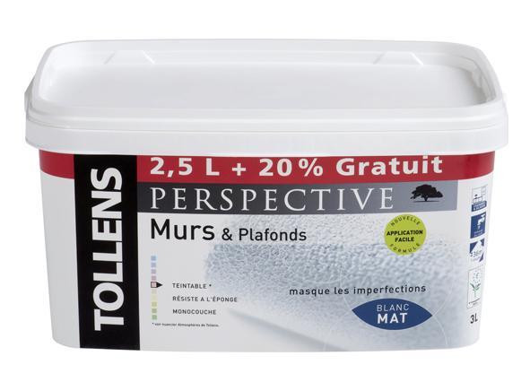 Peinture intérieur acrylique mat PERSPECTIVE 2,5+20%L