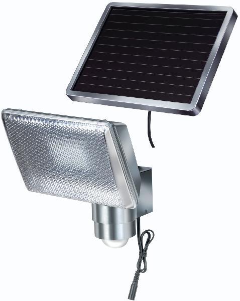 Lampe solaire led + détecteur alu
