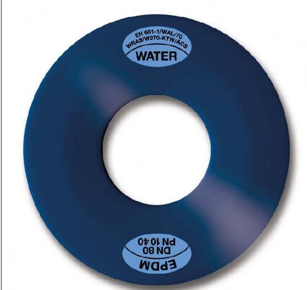 Joint plat EPDM DN300 insert métal ISO PN16 KLINGER 6mm avec ACS