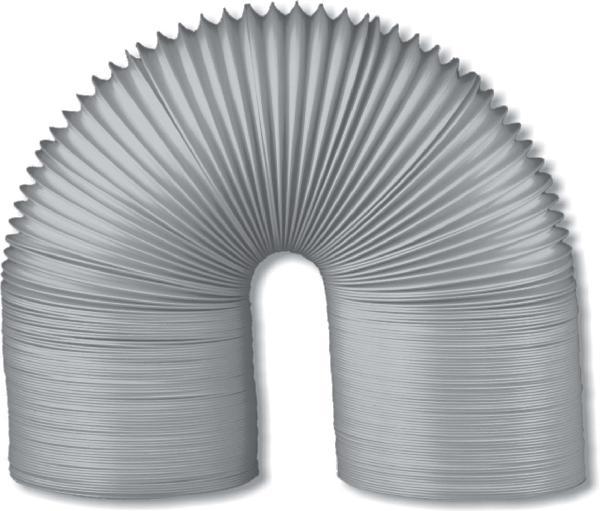 Gaine souple Ø100mm 6m PVC gris filet