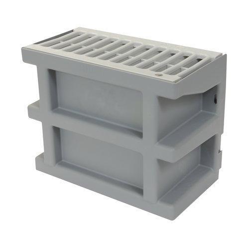 Courette anglaise COUR7G H.20cm + grille PVC grise