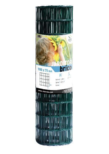 Grillage soudé 100 x 75mm H.1,50m vert rouleau 25m