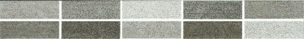 Listel mosaïque ROAD gris/anthracite 5x38cm
