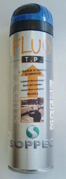 Traceur de chantier FLUO T.P 500ml rouge