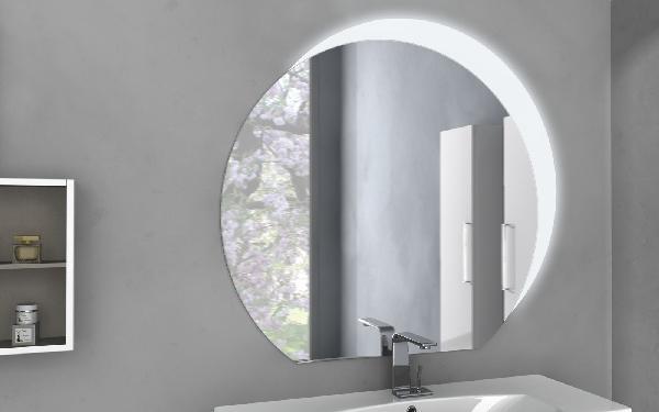 Miroir salle de bain led rétro éclairé ovale 108x100cm
