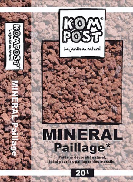 Paillage minéral pouzzolane 7/15mm rouge sac 20 L