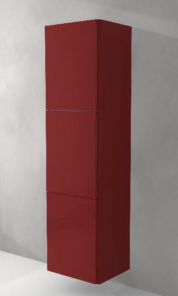 Colonne salle de bain 3 portes sting rouge 45x170cm for Colonne de salle de bain rouge