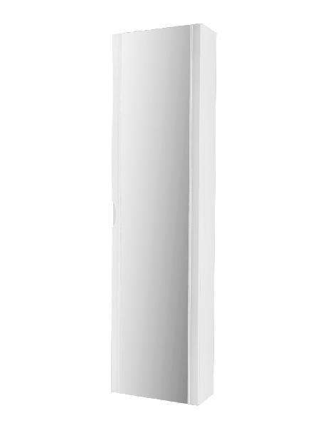 Colonne salle de bain porte miroir BOSTON Blanc 35x20x140cm