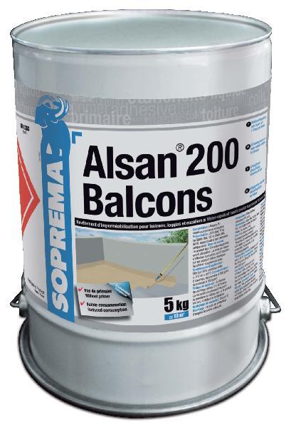 ALSAN 200 BALCONS BIDON 5KG GRIS RAL 7032