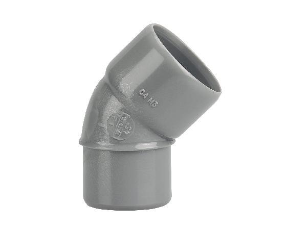 COUDE PVC EVACUATION NFE-NFME D32 MALE-FEMELLE 45°