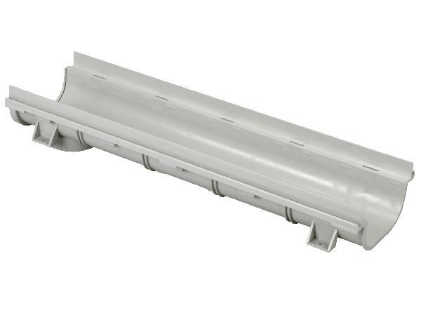 ELEMENT DE CANIVEAU BAS PVC 130X500 A15 GRIS CLAIR
