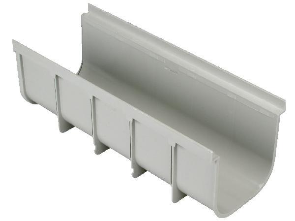 ELEMENT DE CANIVEAU PVC 130X500 A15 GRIS CLAIR