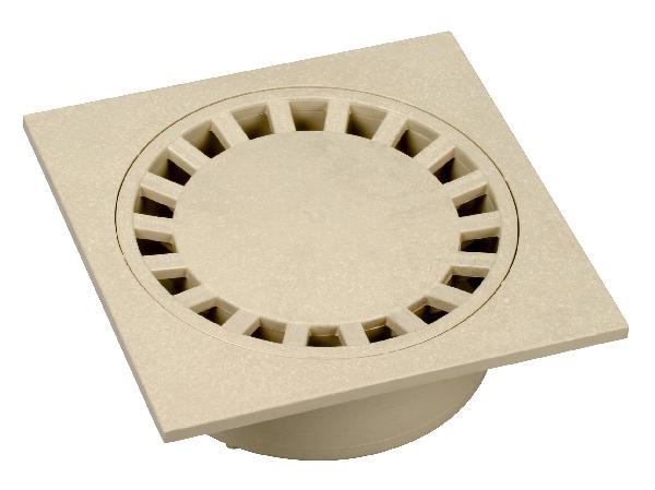 SIPHON DE COUR PVC 150X150 SABLE