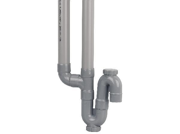 SIPHON PVC EVACUATION DOUBLE VERTICALE NFE-NFME D40