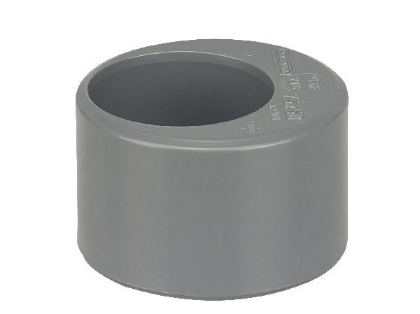 Tampon PVC évacuation de réduction Ø75/50mm mâle-femelle NFME