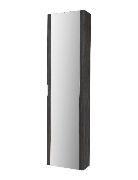 Colonne salle de bain porte miroir BOSTON Gris foncé 35x20x140cm