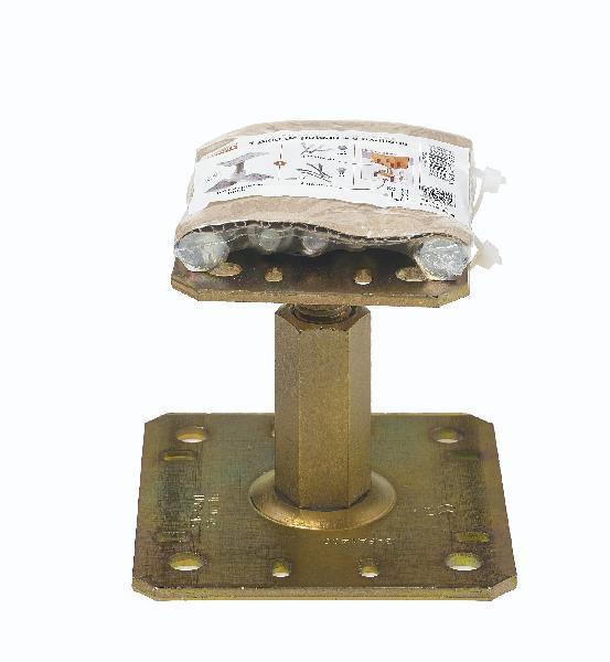 Pied de poteau réglable avec fixations PPRC 100 / 150 mm Ep.5 kit