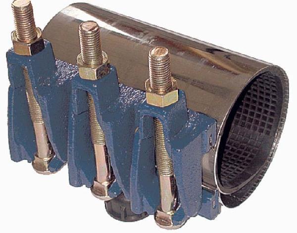Manchon réparation inox mâchoire fonte 190mm Ø048-050mm réf :MR
